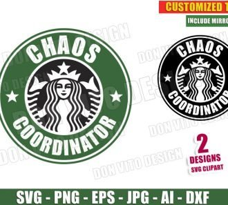 Chaos Coordinator - Starbucks Logo (SVG dxf png) cut files image vector clipart - DonVitoDesign Store