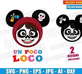 Coco Mickey Mouse Head Ears (SVG dxf png) cut files PNG image vector clipart - DonVitoDesign Store