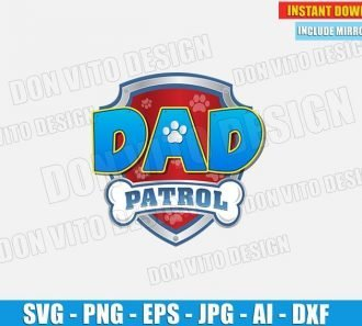Dad Paw Patrol Logo (SVG dxf png) cut files image vector clipart - DonVitoDesign Store
