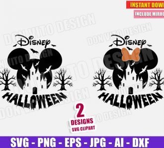 Disney Castle Halloween Mickey (SVG dxf png) cut files image vector clipart - DonVitoDesign Store