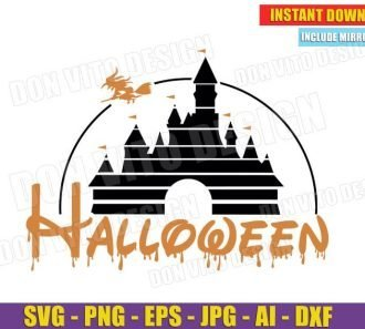 Disney Castle Halloween Witch (SVG dxf png) Cut Files Image Vector Clipart - Don Vito Design Store