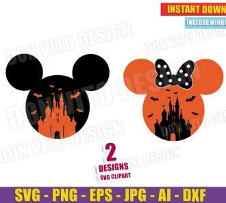 Disney Castle Halloween (SVG dxf png) Cut Files Image Vector Clipart - Don Vito Design Store