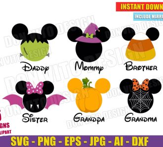 Disney Halloween Family Head Ears (SVG dxf png)