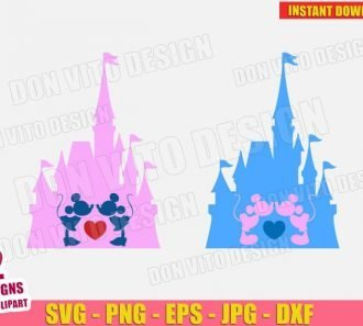 Disney Castle Mickey Minnie Mouse Gay (SVG dxf PNG) cut files image vector clipart - DonVitoDesign Store