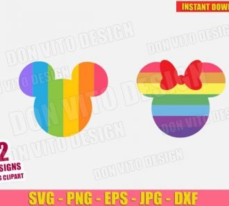 Disney Mickey & Minnie Mouse Gay (SVG dxf PNG) cut files image vector clipart - DonVitoDesign Store