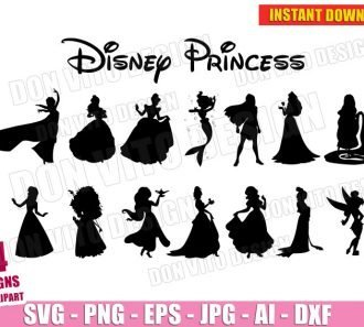 Disney Princess Bundle (SVG dxf png) cut files image vector clipart - DonVitoDesign Store