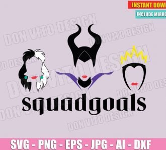 Disney Villains SquadGoals (SVG dxf png) Cut Files Image Vector Clipart - Don Vito Design Store
