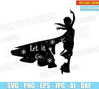 Frozen Elsa Olaf - Let it Go (SVG dxf png) cut files PNG image vector clipart - DonVitoDesign Store