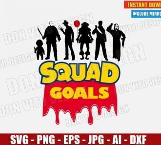 Halloween SquadGoals Horror Toy Story Logo (SVG dxf png)