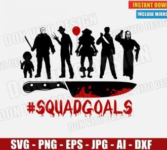 Halloween #SquadGoals Knife (SVG dxf png) cut files image vector clipart - DonVitoDesign Store