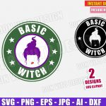 Hocus Pocus Mary Starbucks Logo (SVG dxf png) Halloween Sanderson Sisters Basic Witch Label Coffee Cut Files Vector Clipart T-Shirt Design Girl
