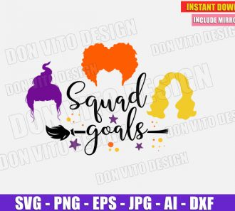 Hocus Pocus SquadGoals (SVG dxf png) Cut Files Image Vector Clipart - Don Vito Design Store