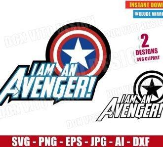 I am an Avenger - Captain America Shield (SVG dxf png)