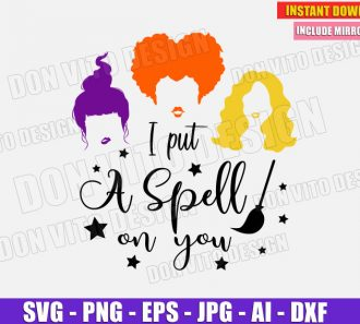 I put a spell on you - Sanderson Sisters Hair (SVG dxf png) cut files image vector clipart - DonVitoDesign Store
