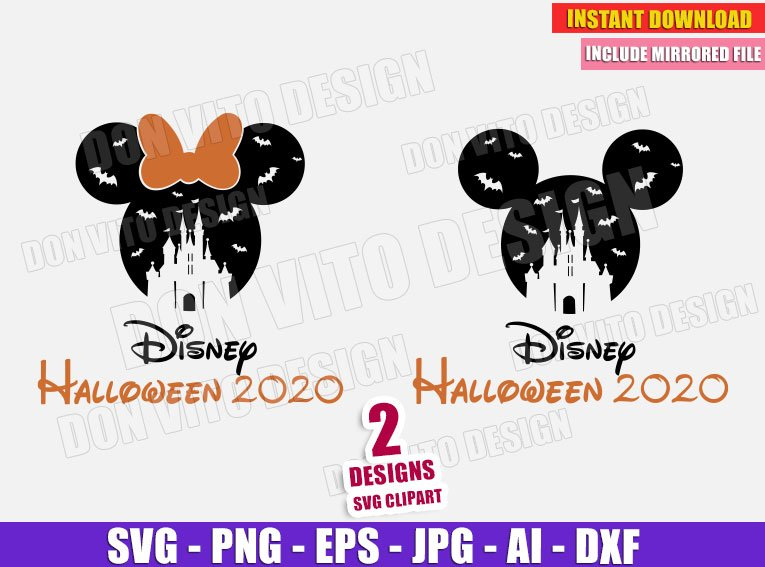 Halloween 2020 Logo Png Disney Castle Halloween 2020 (SVG png) Mickey Minnie Mouse Cut Files