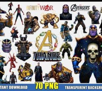 THANOS Clipart (70 PNG Images) Transparent Background Files Digital Image clipart - Don Vito Design Store
