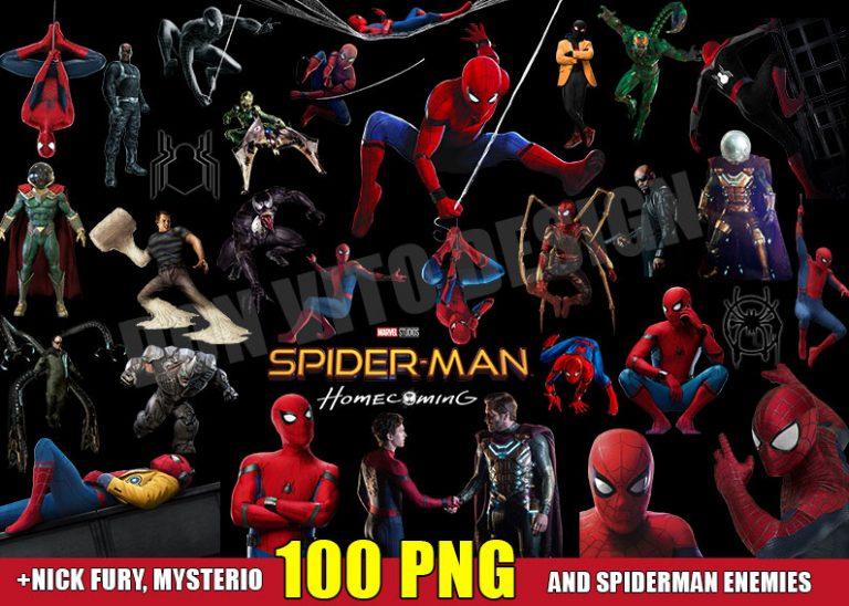 Spiderman Transparent Background Files Digital Image clipart - Don Vito Design Store