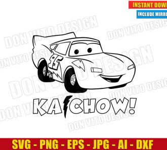 Ka-Chow! Lightning McQueen Cars (SVG dxf png) cut files image vector clipart - DonVitoDesign Store