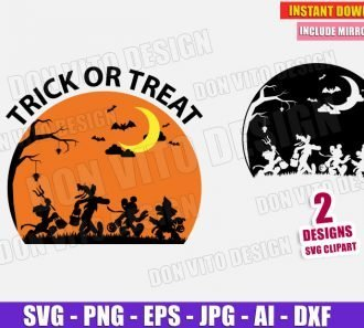 Mickey Goofy Donald Duck Minnie Mouse Halloween SVG PNG cut files image vector clipart - DonVitoDesign Store