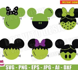 Mickey Halloween Frankenstein Bundle (SVG dxf png) Cut Files Image Vector Clipart - Don Vito Design Store