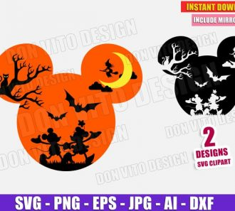 Mickey Minnie Mouse Halloween Head (SVG dxf png) cut files image vector clipart - DonVitoDesign Store