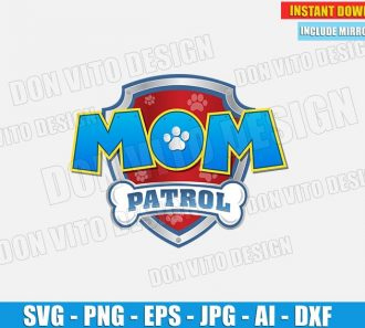 Mom Paw Patrol Logo (SVG dxf png) cut files image vector clipart - DonVitoDesign Store