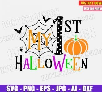 My 1st Halloween - Baby (SVG dxf png) Cut Files Image Vector Clipart - Don Vito Design Store