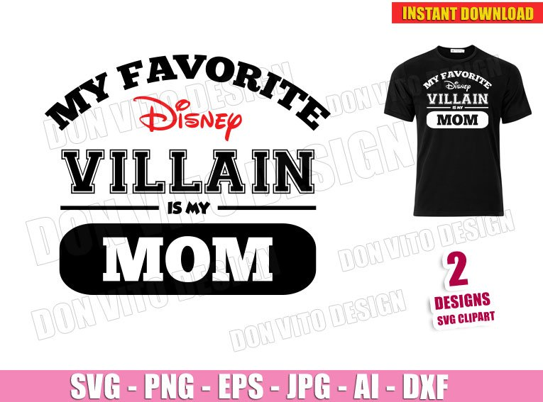 My Favorite Disney Princess is my MOM (SVG dxf png) Mommy Family Vacation Trip Cut File Silhouette Cricut Vector Clipart T-Shirt Design Mother