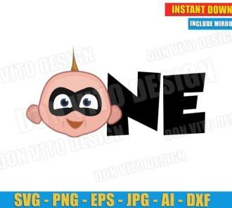 One Baby Jack Jack Head - The Incredibles (SVG png)