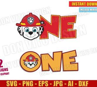 One Paw Patrol Marshall Head Logo (SVG dxf png)