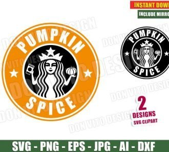Pumpkin Spice Starbucks Logo (SVG dxf png) cut files image vector clipart - DonVitoDesign Store