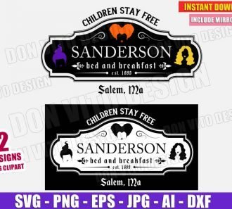 Sanderson Sisters Bed & Breakfast Sign (SVG dxf png)