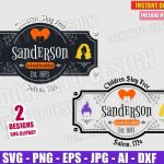 Sanderson Sisters Bed and Breakfast (SVG dxf png) Halloween Sign Hocus Pocus Witches Hair Cut File Vector Clipart T-Shirt Design Party Decor