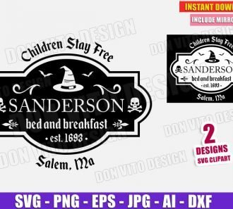 Sanderson Sisters Bed and Breakfast (SVG png) Cut Files Image Vector Clipart - Don Vito Design Store