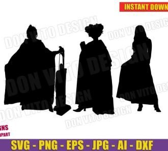 Sanderson Sisters Witches Halloween Silhouette (SVG dxf png)