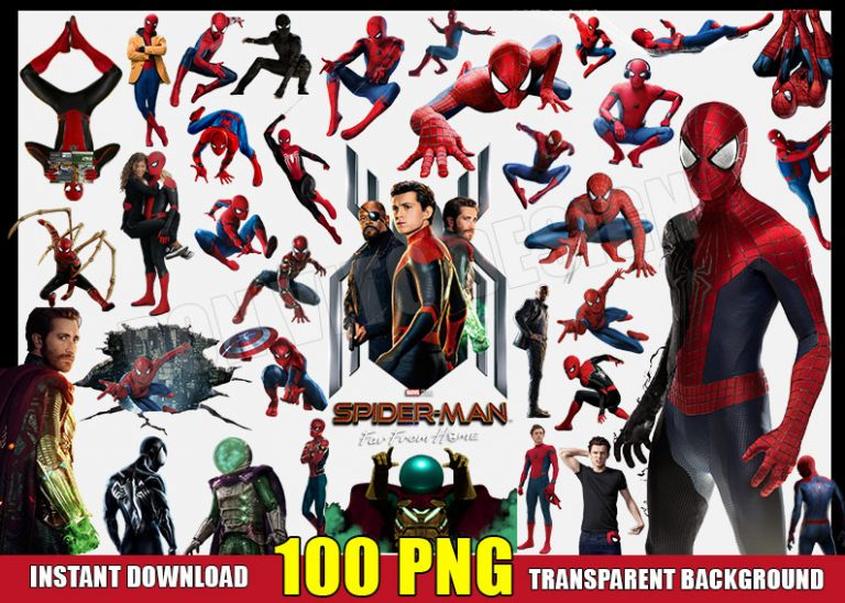 Spiderman Clipart (100 PNG) Transparent Background Files Digital Image clipart - Don Vito Design Store