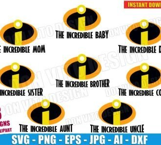THE INCREDIBLES Family Logo (SVG dxf png) cut files image vector clipart - DonVitoDesign Store