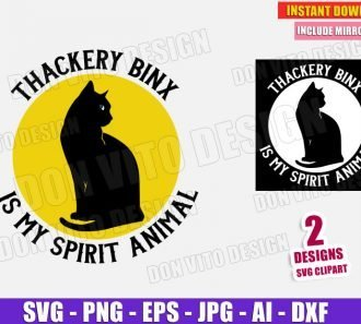 Thackery Binx is my Spirit Animal (SVG dxf png) Cut Files Image Vector Clipart - Don Vito Design Store
