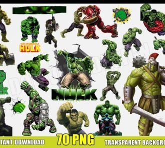 The Incredible Hulk Clipart (70 PNG Images) Transparent Background Files Digital Image clipart - Don Vito Design Store