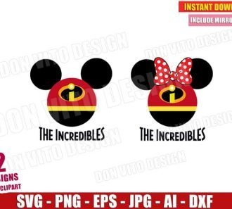 The Incredibles Mickey Mouse Head (SVG dxf png)