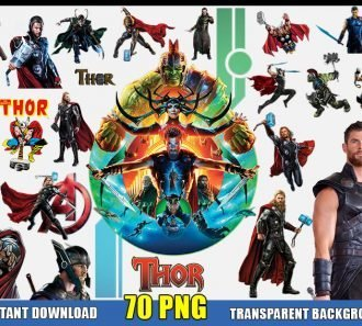 Thor Clipart (70 PNG Images) Transparent Background Files Digital Image clipart - Don Vito Design Store