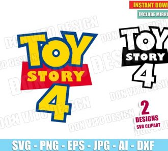 Toy Story 4 Movie Logo (SVG dxf png) Cut Files Image Vector Clipart - Don Vito Design Store