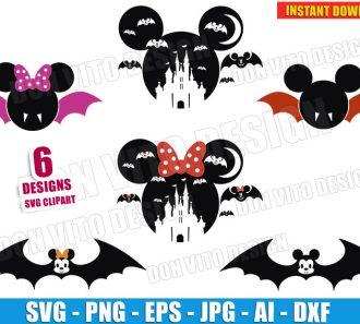 Bat Mickey Mouse Halloween Bundle (SVG dxf png) Cut Files Image Vector Clipart - Don Vito Design Store