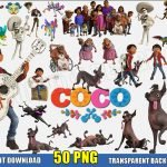Coco Clipart (50 PNG Images) Disney Movie Logo Miguel Skull Dog Dante Digital Transparent Background Files Party Printable
