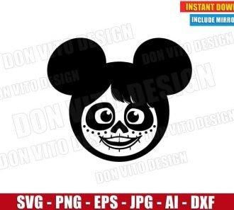 Coco Mickey Mouse Ears (SVG dxf png) Cut Files Image Vector Clipart - Don Vito Design Store
