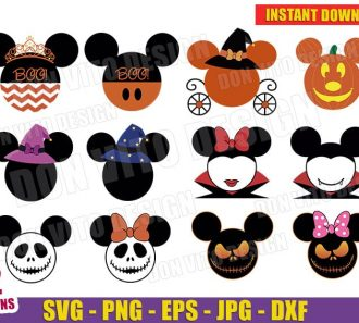 Disney Halloween Mickey Mouse Bundle (SVG png) Cut Files Image Vector Clipart - Don Vito Design Store