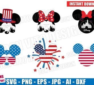 Disney USA Mickey Mouse Head Bundle (SVG dxf png) Cut Files Image Vector Clipart - Don Vito Design Store