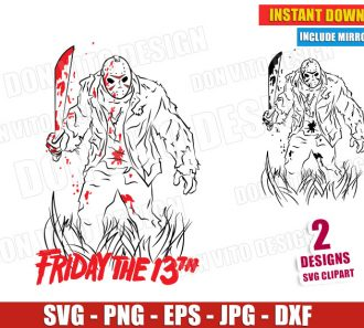 Friday the 13th Jason Voorhees (SVG dxf png) Cut Files Image Vector Clipart - Don Vito Design Store