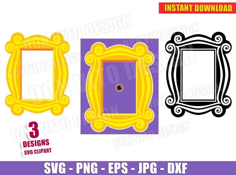 Friends Peephole Door Frame Bundle Svg Dxf Png Tv Show Logo Cut
