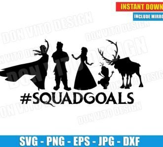 Frozen Squadgoals Disney Movie (SVG dxf png) Cut Files Image Vector Clipart - Don Vito Design Store